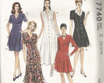 McCall's 7740 Misses Dress Pattern SZ 10-14