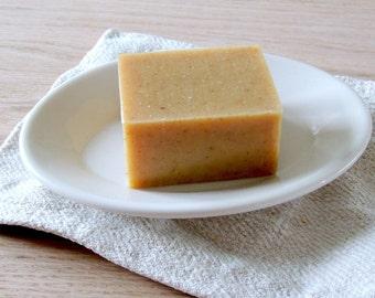 IRONSTONE White Farmhouse Soap Dish Homer Laughlin Plate