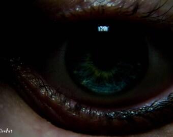 Horror Print - Demon Eye, Scary Eye, Black Eye, A3,Horror Scene,Dark Print,Digital Art,Horror Art,Dark Art, Spooky, 0026