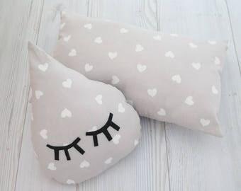 Drop pillows , kids pillow , nursery pillow , baby pillow , nursery decoration , crib pillow