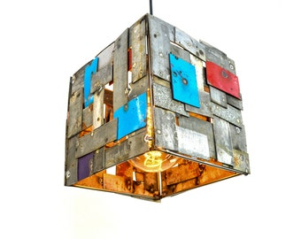 "STUDIO - ""Musadi"" -  Wine Barrel Ring Pendant Light -100% Recycled"
