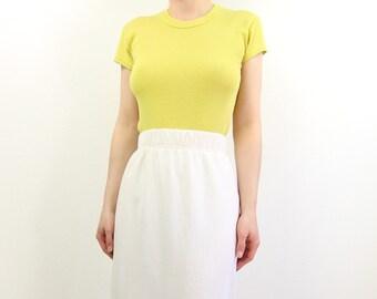 VINTAGE Chartreuse Tshirt Shortsleeve Tee