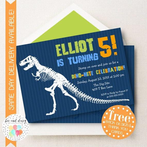 Dinosaur birthday invitation dinosaur invitation dinosaur birthday il570xn solutioingenieria Gallery