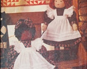 "Vogue 8925 Linda Carr 24"" Tall Rag Dolls and Transfers Clothes Dress Bow Pinafore Bloomers  Sewing Pattern Sew Uncut"