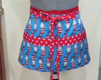 Teacher Crafter Vendor Utility Apron- Cat in the Hat