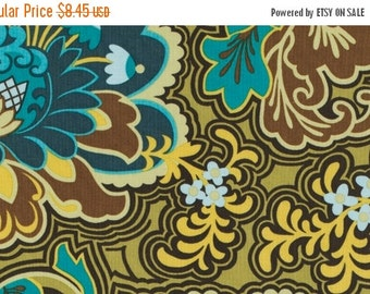 Christmas Sale Amy Butler Fabric - Gothic Rose in Turquoise from the Belle Collection