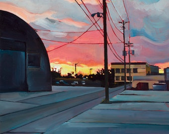 Minneapolis Sunset - giclee print on paper or canvas