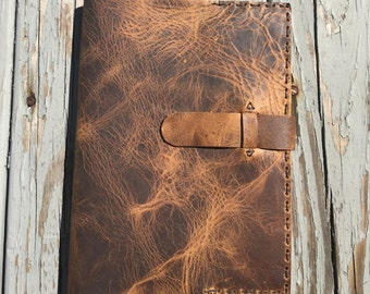 Eastside Leather Notebook / Refillable Composition Book Cover / October Special Price / Handmade Leather Journal Made with Love