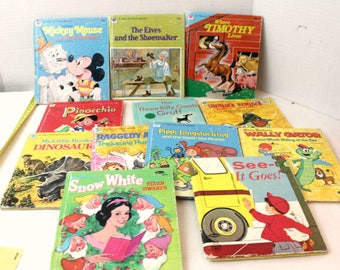 lot of vintage children's books elf books