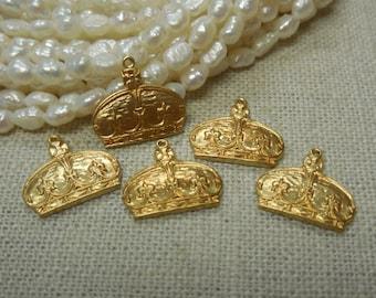 Brass Crown Charm