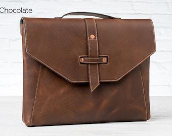 Valet Luxury Laptop Bag for MacBook Pro 15 - Dark Chocolate