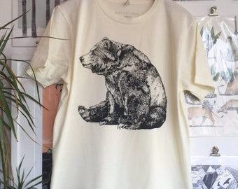 Bear | Screen Printed Organic T-shirt | 100% cotton | (ONLINE PRICE)