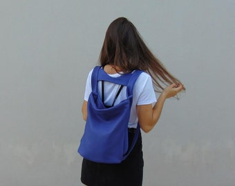 Leather backpack ,slouchy bag, everyday womens bag ,named Laoura ,made to order.