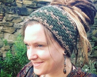 Crochet Dreadband, Headband, Dread Wrap, Ear Warmer