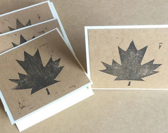 Canada Mini Cards, Maple Leaf Cards, Canada 150th Birthday, Rustic Canadian Cards, Set of 20, Canadiana