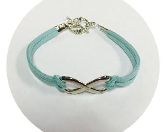 Tuquoise Infinity Bracelet