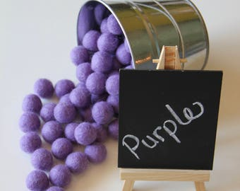 Felt Balls- Purple- 20mm-Pk of 20