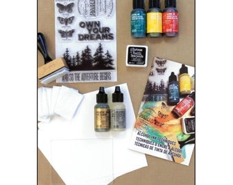 Tim Holtz Alcohol Ink Kit - learn alcohol ink techniques