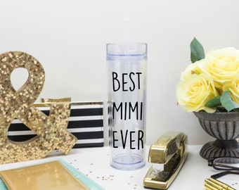 Best Grandma Ever Tumbler, Nana Gift Mimi Gift, Awesome Best in the World Gift, World's Best, Gender Reveal, Pregnancy Announcement