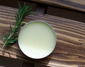 Rosemary Remembrance Balm | organic herbal salve, medicated salve, helps with memory, keeps you alert and focused, use while studying