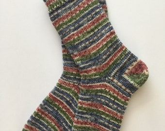 Knitted Socks,Wool, Ladies' Opal 6 ply, Hand Cranked