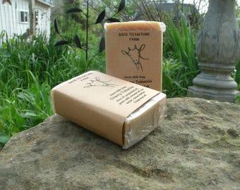 Handmade Cherry Tobacco Goats Milk Soap