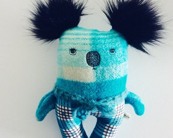 Roland - koala - boy doll - ooak - thread drawn
