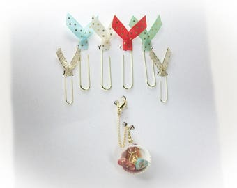 Planner Accessories Planner Charms Journal Accessories Happy Planner Erin Condren Page Clips Planner Clips Journal Clips Bookmarks Coral