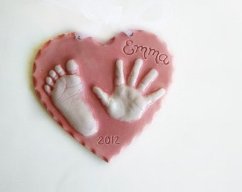 RESERVED New Baby Gift - Personalized Baby Gift  - Baby Keepsake Gift - Handprint Art - New Baby Gift - For Baby