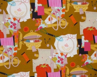 ON SALE SPECIAL--Sew Retro Print Pure Cotton Fabric from Alexander Henry--One Yard