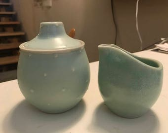 RESERVED FOR KRISTIN  - Ceramic Creamer and Sugar Set