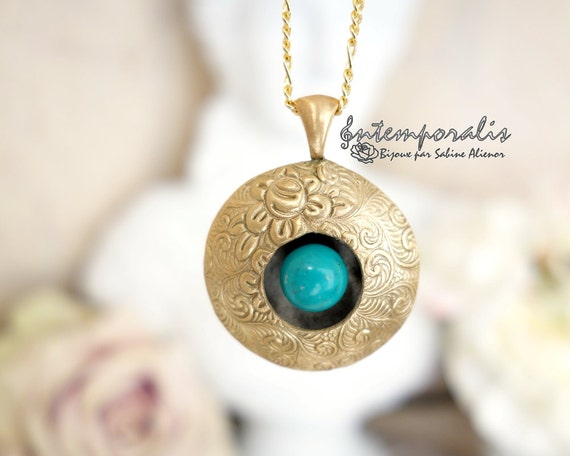 Bronze and turquoise perfume diffuser SADP19