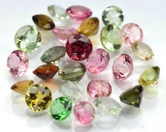 TOURMALINE (32305)  Nice! PARCEL (25 Gems / 3 cts.)  Lovely Mixed Tourmaline - Mozambique Mined -Faceted