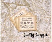 THANK YOU for your Etsy Order Cards ... Shop Supplies / Vintage / Packaging / Labels / Packing Supplies / Heart / Vintage Look/ DIY / Store