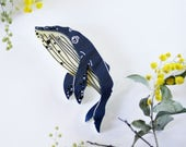 Drifting Whale (Welcome to Yamba Edition) Wearable Art Pin by Winnifreds Daughter
