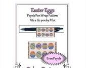 ON SALE Bead Pattern Peyote(Pen Wrap/Cover)-Easter Eggs