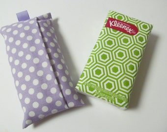 Tissue Case/White Dots On Light Purple