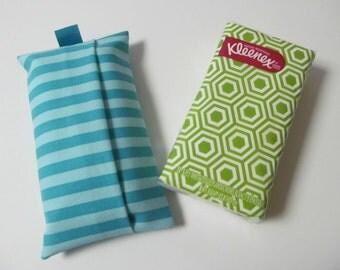Tissue Case/Turquoise Stripe