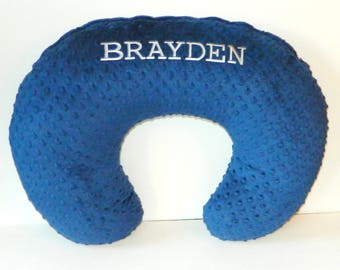 Personalized Boppy Cover, Personalized Bobby Pillow Cover, Personalized Boppy Slipcover, Baby Boy Item, Baby Girl Item