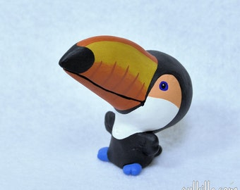 Hand Sculpted Toco Toucan Derp Figurine