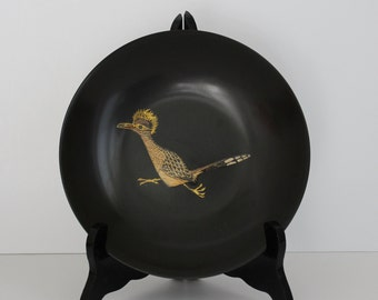 Vintage Couroc of Monterey California Roadrunner Dish