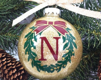 Family Christmas Ornament, Personalized Family Ornament, Christmas Gift, Christmas Ornament, Wreath Ornament