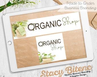 Organic Logo - Natural logo - Soap Logo - Shop Banner - Premade logo - Etsy Banner - Graphic Design - Branding Set - Business Branding -
