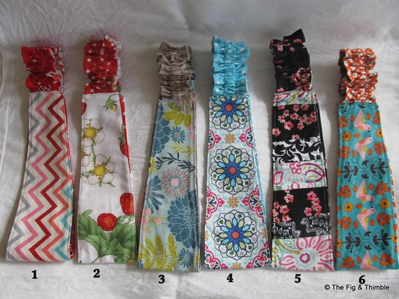Fabric Headband Women Girls Reversible Hairband - Floral, chevrons, birds, butterflies ..Pick one