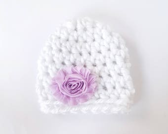 Baby Shower Gift Girl / Newborn Girl Hat / Baby Girl Beanie / Crochet Newborn Hat / Infant Girl Hat / Baby Girl Hat / Hats For Babies