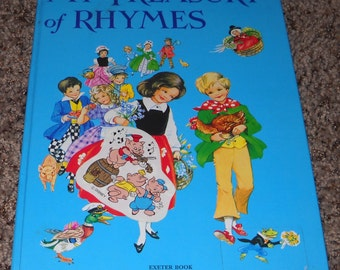 My Treasury of Rhymes -  Illustrated by Rene Cloke - 1984 - Printed n Hungary