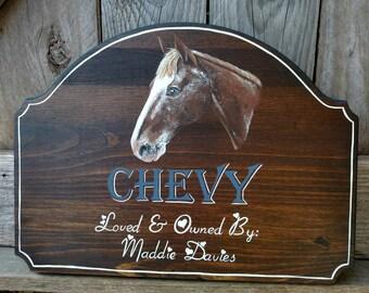 Custom Horse Stall Sign