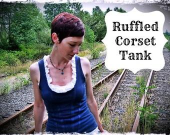 ruffled corset tank