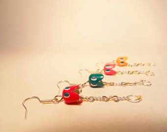 Pacman Ghost Earrings