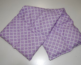 Rice Heating Pad / Ice Pack, Medium, Purple Scroll